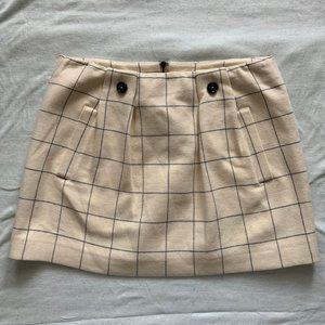 See By Chloe cream windowpane grid mini skirt 6